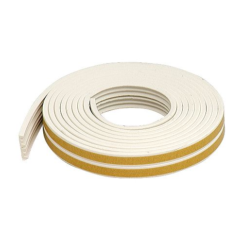 M-D Building Products 1 1/18-inch x 3/8-inch x 17-ft. Premium Extra Small Rubber Gap Seal K-Profile White