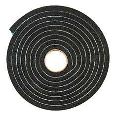 Extra Large Gap Premium Weather-Stripping Foam Tape - 3/8 inch. X 3/4 inch. X 10 ft. BLACK