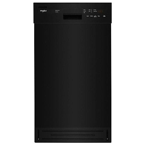 Lave-vaisselle à commande frontale 18 po W en noir avec cuve en acier inoxydable, 50 dBA - ENERGY STARMD