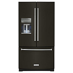 36-inch W 27 cu. ft. French Door Refrigerator in PrintShield Black Stainless Steel