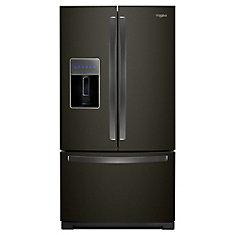 36-inch W 27 cu. ft. French Door Refrigerator in Fingerprint Resistant Black Stainless Steel - ENERGY STAR®