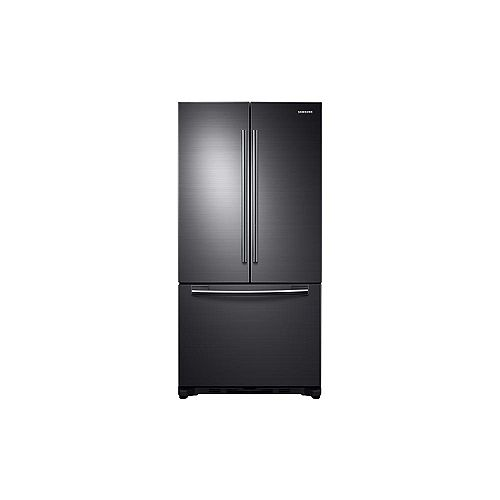 Samsung 33-inch W 17.5 cu.ft French Door Refrigerator in Black Stainless Steel, Counter Depth