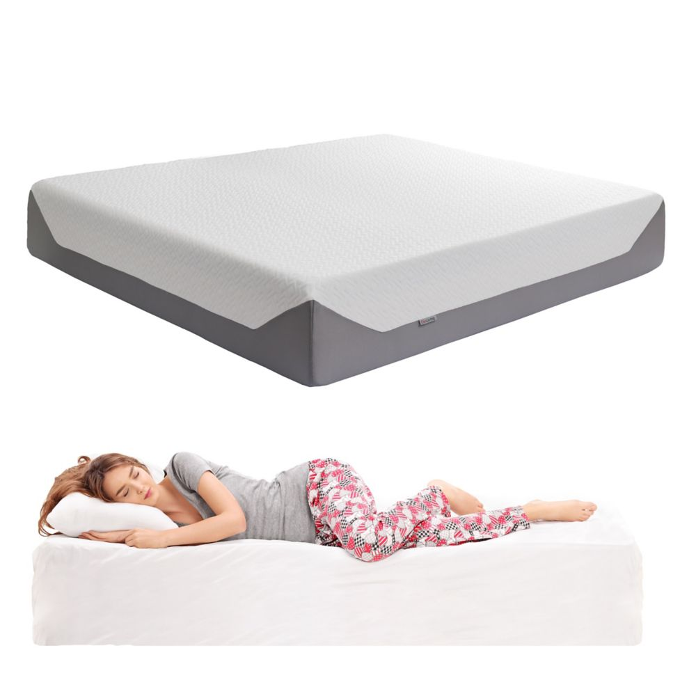 corliving sleep collection 14 inch king medium firm memory foam mattress the home depot canada. Black Bedroom Furniture Sets. Home Design Ideas