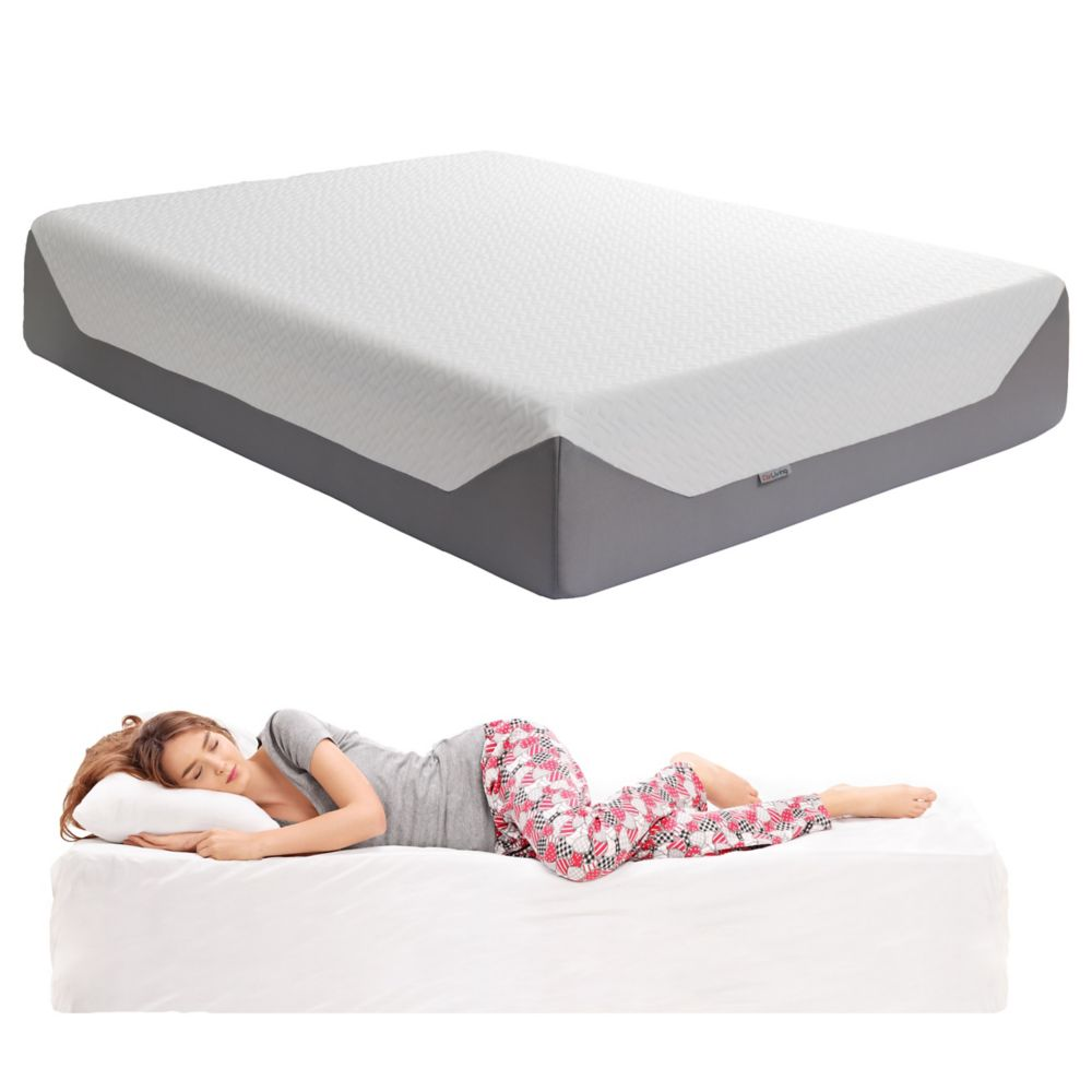 Corliving Sleep Collection 14 inch Queen Medium Firm Memory Foam Mattress