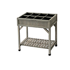 Grey Wash Raised Herb Garden Bed Planter