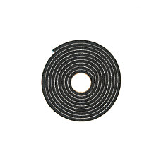 Small Gap Premium Weather-stripping Foam Tape - 1/4 inch. X 1/2 inch. X 10 ft. BLACK