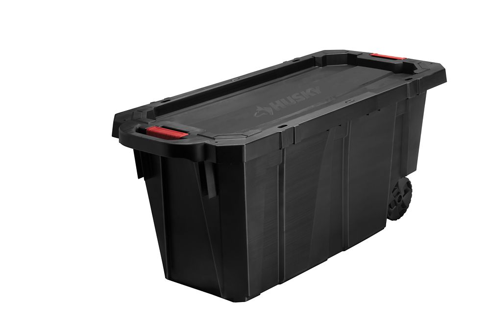 Husky Latch Stack Tote With Wheels 1703 L The Home Depot Canada