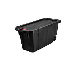 Latch and Stack Tote with Wheels, 170.3 L