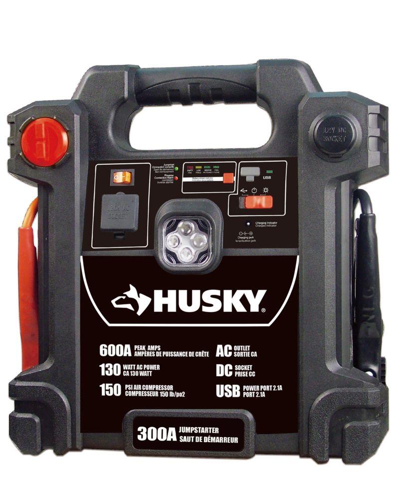 HUSKY 300 amp Jump Starter with Inflator