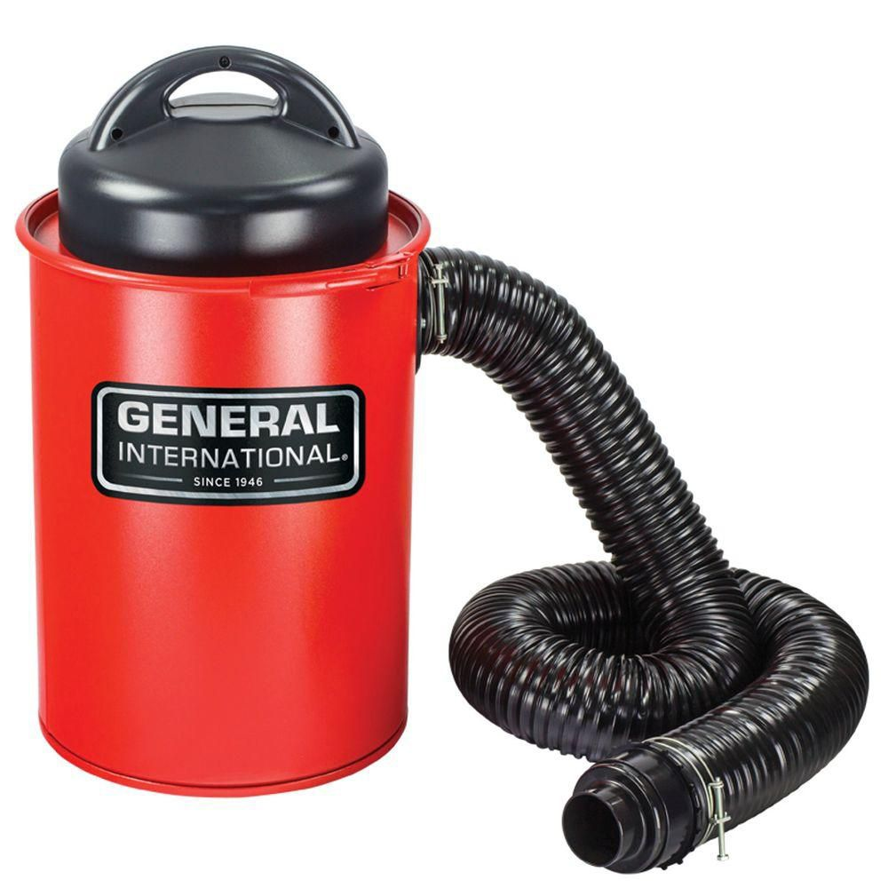 General International 2-In-1 9.2A Portable 13 Gallon Dust Collector With Metal Dust Collection Drum