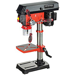 General International 10 inch - 5 Speed 3A Bench Mount Drill Press With Laser System And Led Light