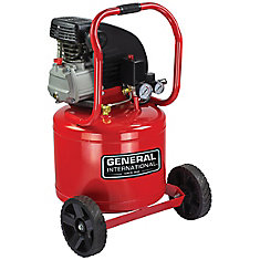 2Hp 11 Gal Vertical Oil-Lubricated Electric Air Compressor With Wheels