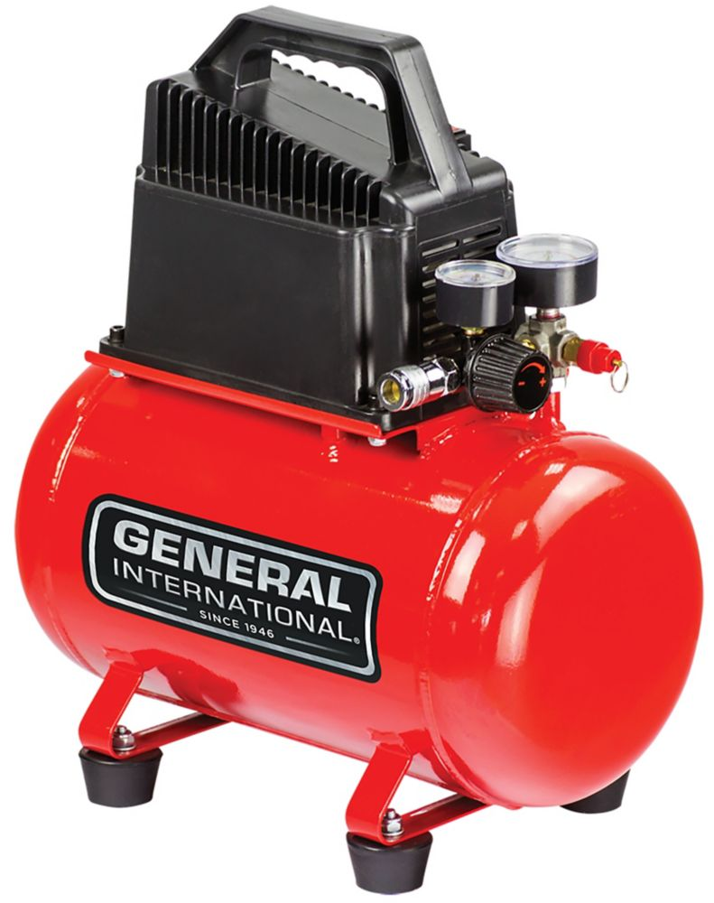 General International 1/3Hp 3 Gal. Hot Dog Oil-Free Electric Air Compressor