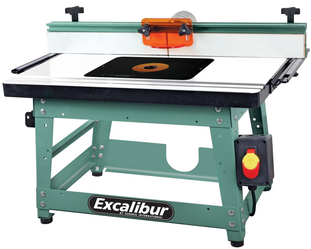 General International Router Table Kit With Mdf Table & Phenolic Router Plate