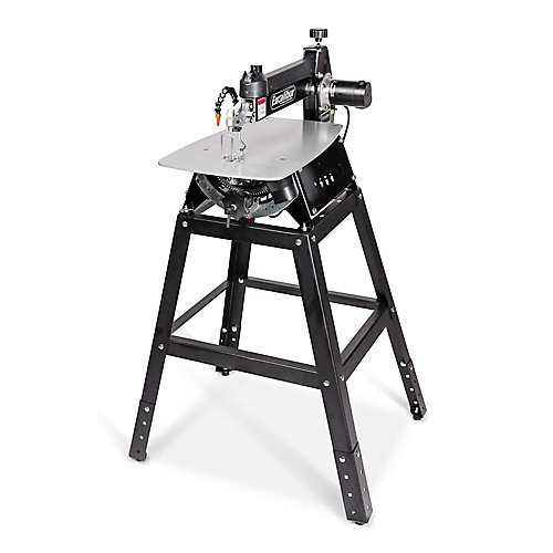21 inch Tilting Head Scroll Saw With Foot Switch & Adjustable Height Metal Stand