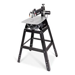 General International 21 inch Tilting Head Scroll Saw With Foot Switch & Adjustable Height Metal Stand