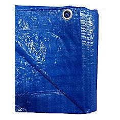 Bâche bleue pour service léger de 3,65 m x 4,26 m, paquet de 2
