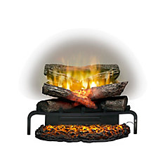 Lifelike Electric Log Insert for Fireplaces