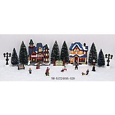 20-Piece LED-Lit Holiday Village Scene