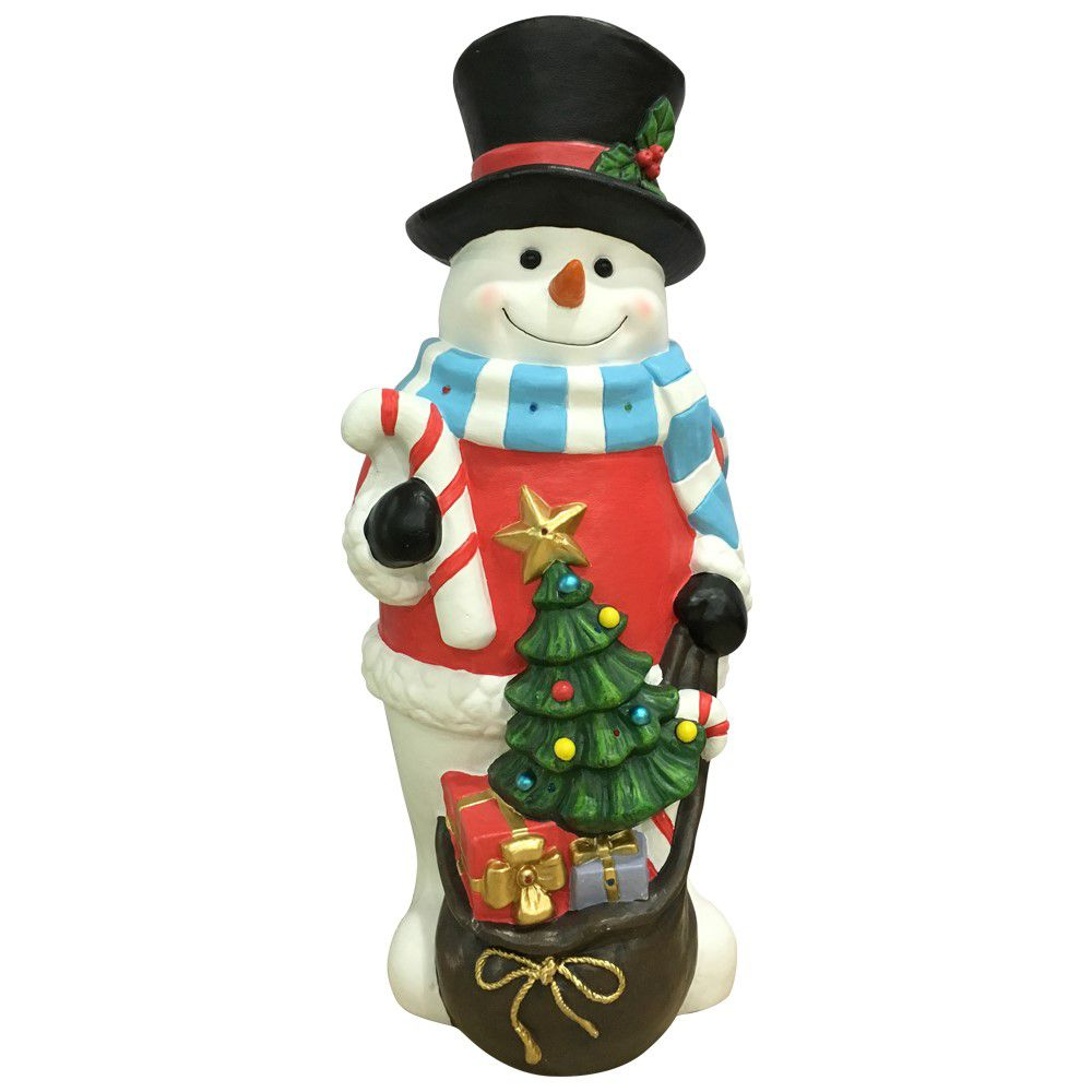 Home Accents Holiday 36-inch Snowman Figure with Multi-Colour LED Lights