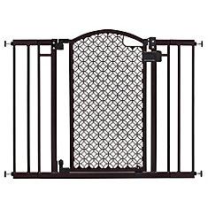 Barrière moderne décorative avec porte de