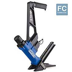 Pneumatic 18-Gauge L-Cleat Flooring Nailer with fibreglass Mallet and Padded Bag