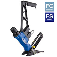Pneumatic 2-inch-1 16-Gauge L Cleat or 15.5-Gauge Flooring Nailer/Stapler