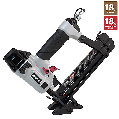 Pneumatic 4-in-1 18-Gauge 1-5/8-inch Mini Flooring Nailer and Stapler