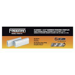 Freeman Pneumatic 1-3/4 inch 9-Gauge Barbed Fencing Staples (1,000-Pack)