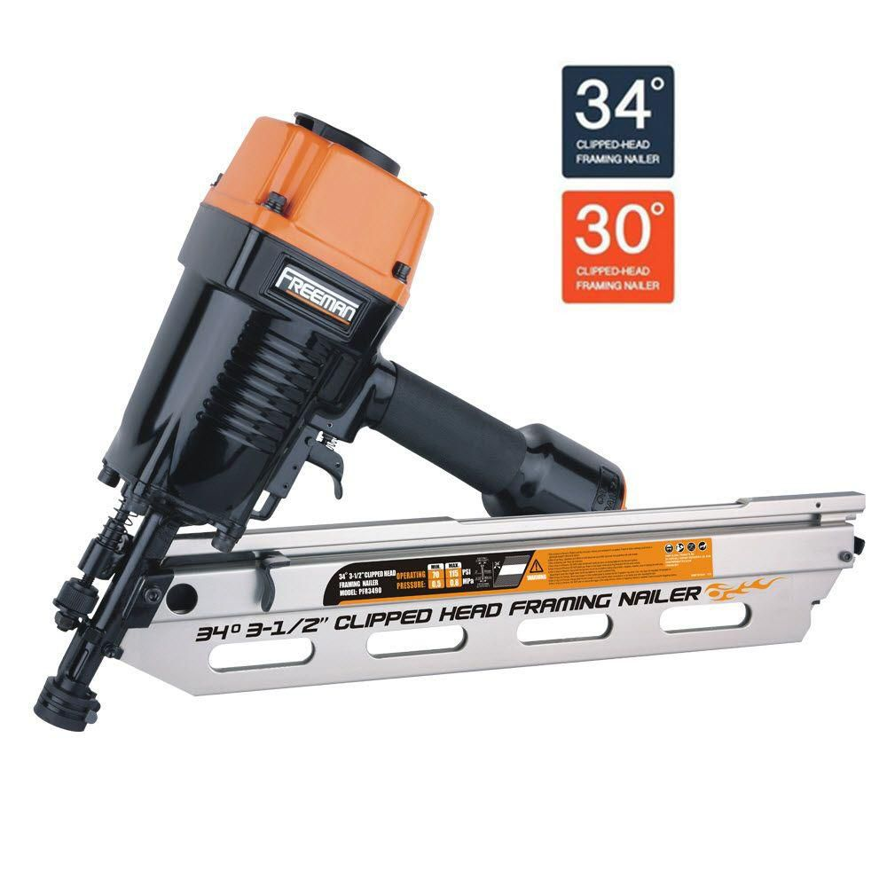 Freeman Pneumatic 34-Degree Clipped Head Framing Nailer