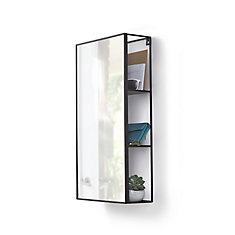 Cubiko Mirror and Storage Unit in Black