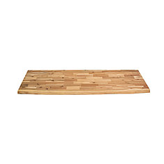 Comptoir de cuisine en bois Acacia Bord inachevé - 72 po x 25.5 po x 1.5 po