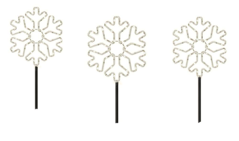 120-Light LED Microdot Snowflake Pathway