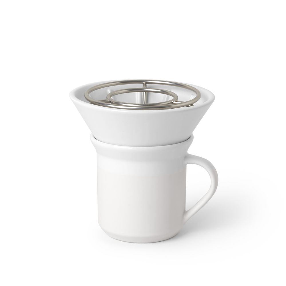 Umbra Umbra Perk Coffee Pour Over, 4 Cup Filtered Coffee Maker, Pour Over Coffee Filter
