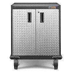 Premier Series GearBox 35-inch H x 28-inch W x 25-inch D Steel 2-Door Rolling Garage Cabinet in White