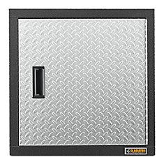 Premier Series 24-inch H x 24-inch W x 12-inch D Steel Garage Wall Cabinet in Silver Tread