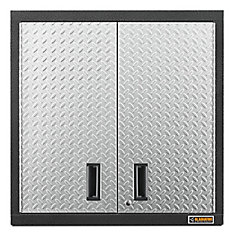 Premier Series 30-inch H x 30-inch W x 12-inch D Steel 2-Door Garage Wall Cabinet in Silver Tread