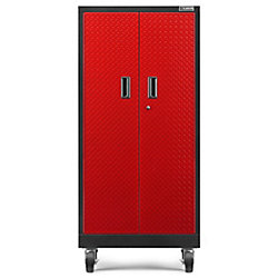 Premier Series 66-inch H x 30-inch W x 18-inch D Steel Rolling Garage Cabinet in Red Tread