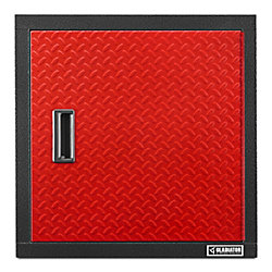 Premier Series 24-inch H x 24-inch W x 12-inch D Steel Garage Wall Cabinet in Red Tread
