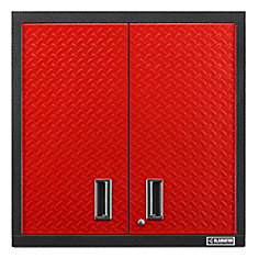 Premier Series 30-inch H x 30-inch W x 12-inch D Steel 2-Door Garage Wall Cabinet in Red Tread