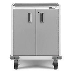 Premier Series 35-inch H x 28-inch W x 25-inch D Steel 2-Door Rolling Garage Cabinet in White