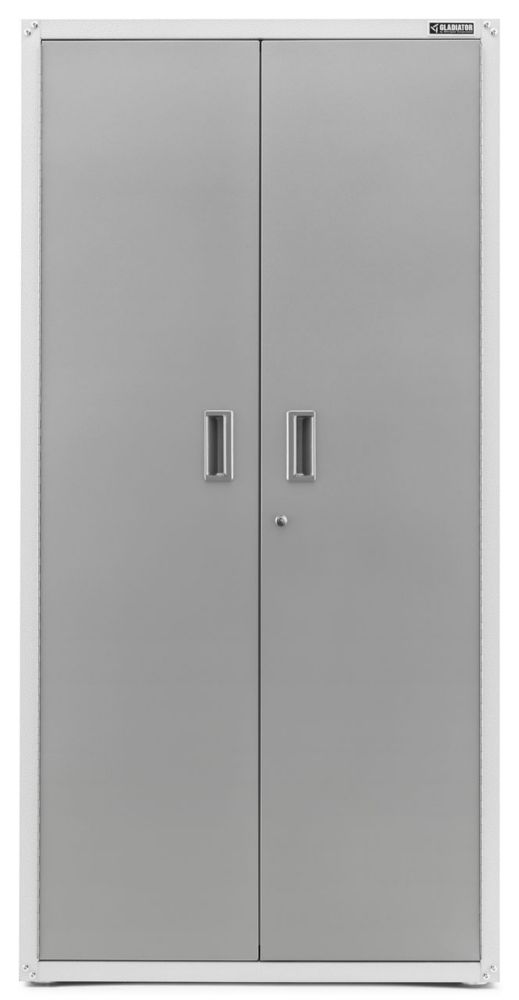Gladiator Ready-to-Assemble 72-inch H x 36-inch W x 24-inch D Steel Freestanding Garage Cabinet in White