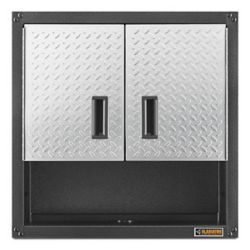 Gladiator Ready-to-Assemble 28-inch H x 28-inch W x 12-inch D Steel 2-Door Garage Wall Cabinet in Silver Tread