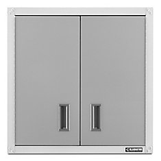 Ready-to-Assemble 28-inch H x 28-inch W x 12-inch D Steel Garage Wall Cabinet in White