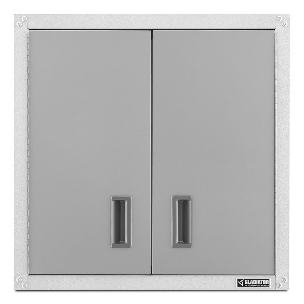 Gladiator Ready-to-Assemble 28-inch H x 28-inch W x 12-inch D Steel Garage Wall Cabinet in White