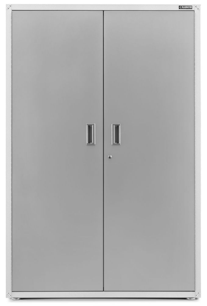 Gladiator Ready-to-Assemble 72-inch H x 48-inch W x 18-inch D Steel Freestanding Garage Cabinet in White