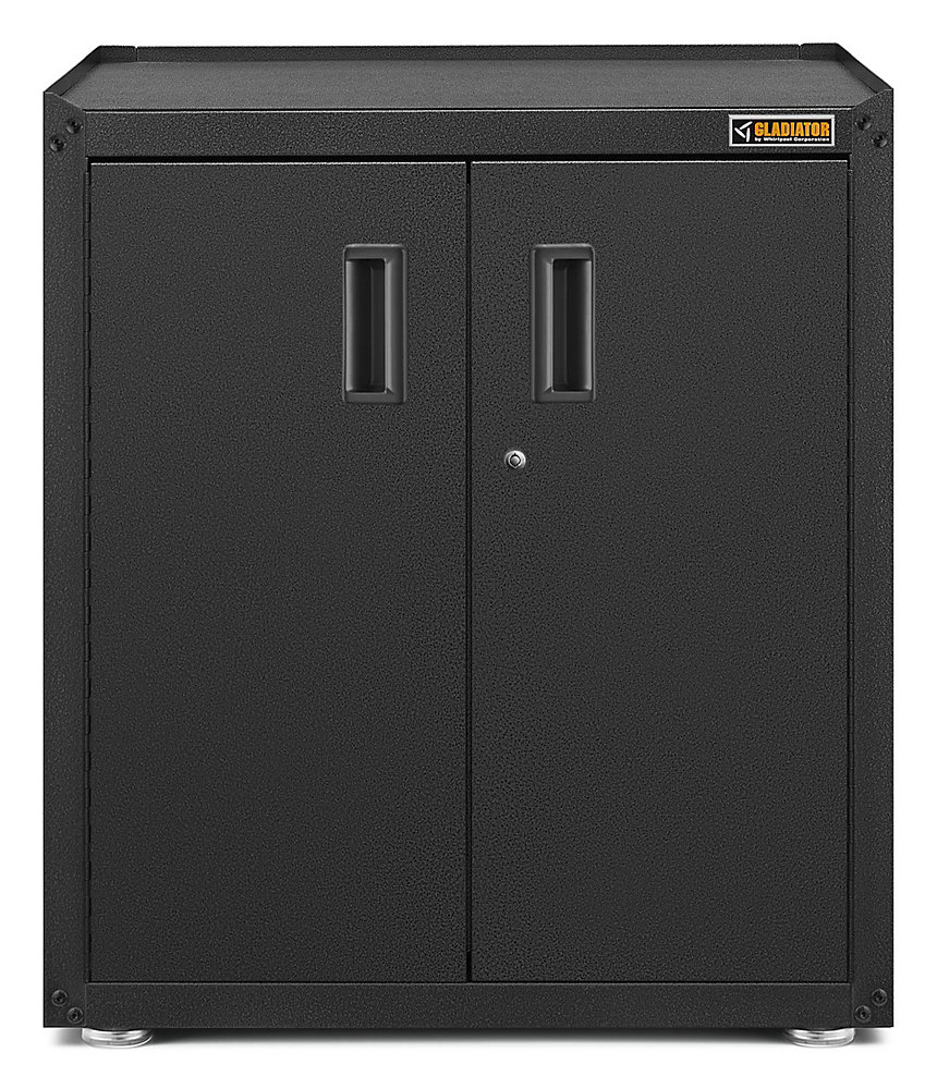 Ready-to-Assemble 31-inch H x 28-inch W x 18-inch D Steel Freestanding Garage Cabinet in Hammered Slate