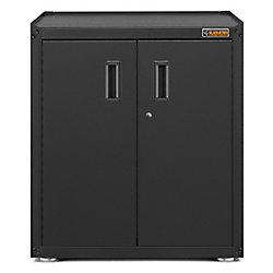 Gladiator Ready-to-Assemble 31-inch H x 28-inch W x 18-inch D Steel Freestanding Garage Cabinet in Hammered Slate