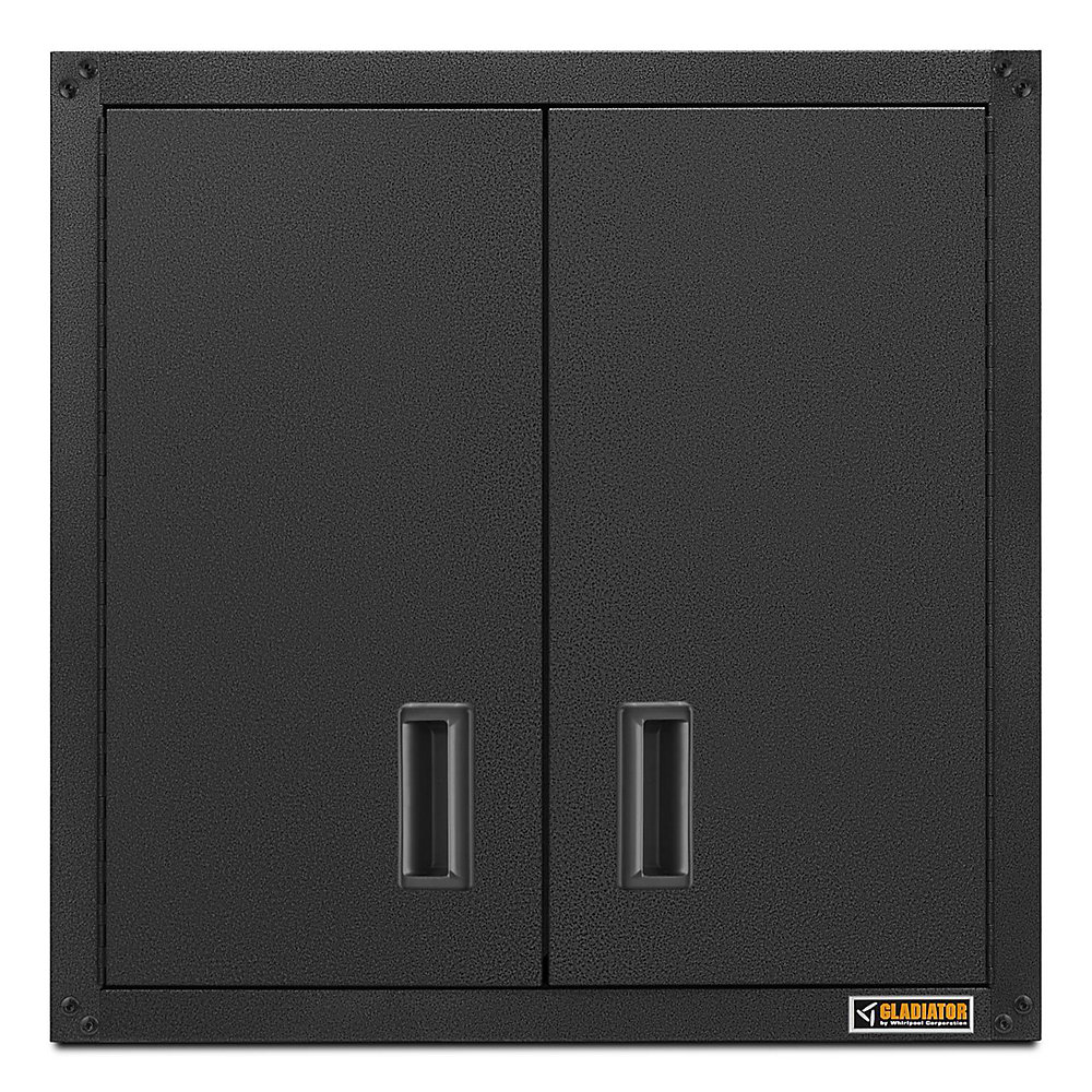 Ready-to-Assemble 28-inch H x 28-inch W x 12-inch D Steel Garage Wall Cabinet in Hammered Slate