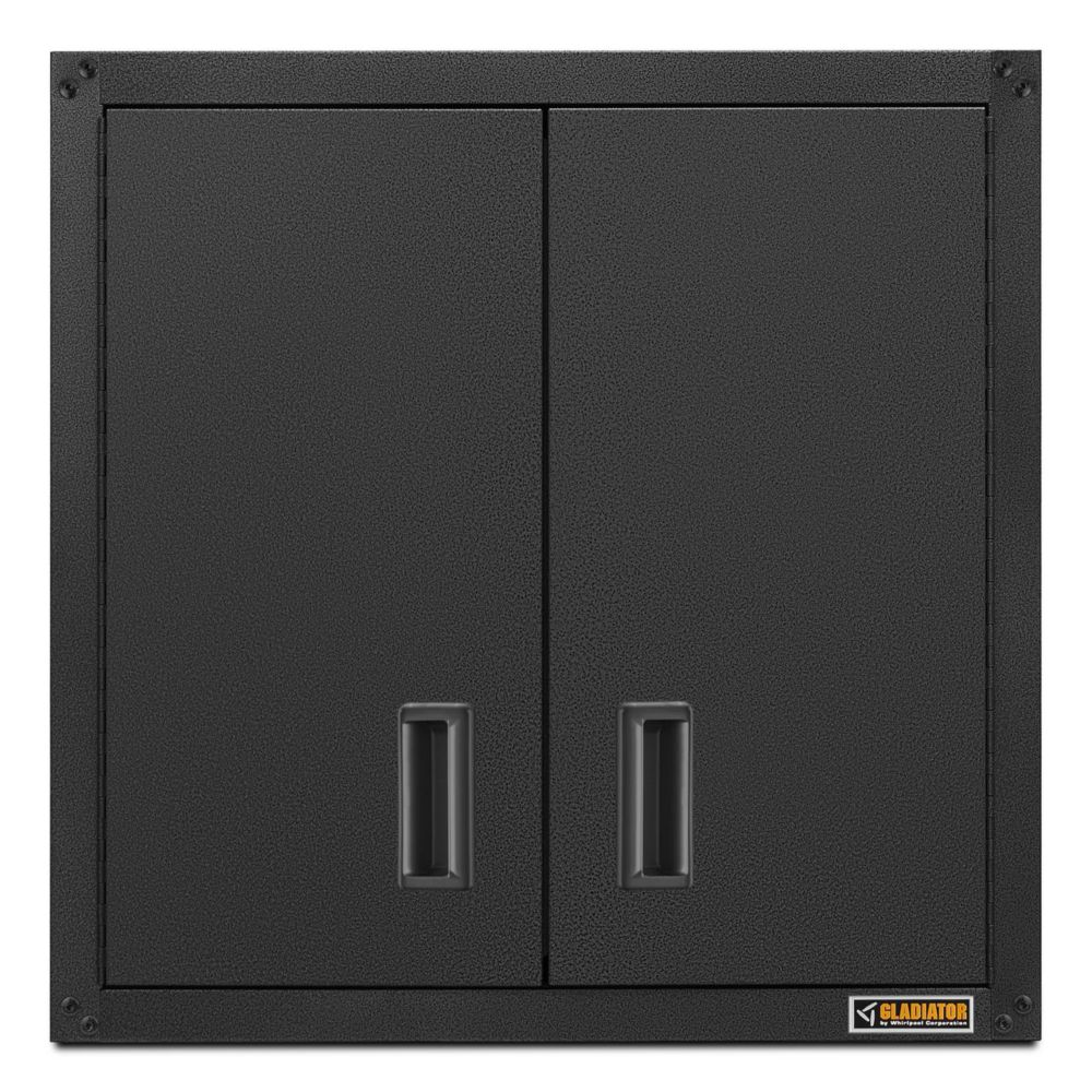 Gladiator Ready-to-Assemble 28-inch H x 28-inch W x 12-inch D Steel Garage Wall Cabinet in Hammered Slate